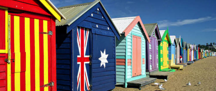 Beach huts on Bright Beach, Melbourne