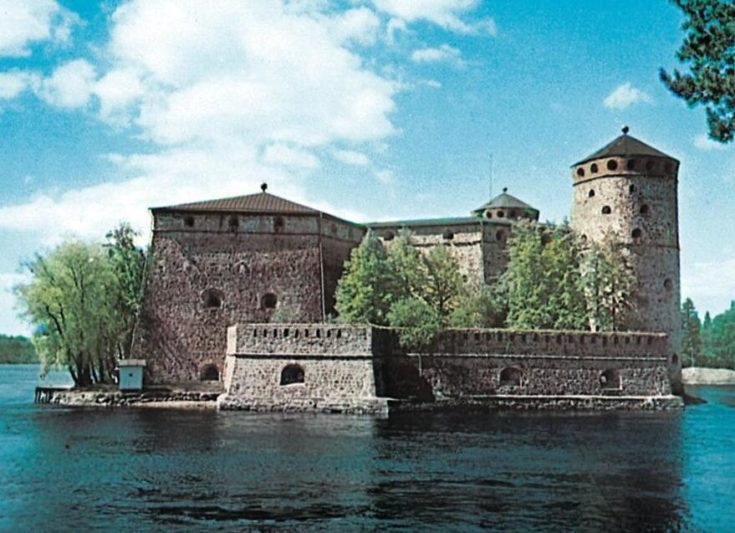 The Olavinlinna castle in Savonlinna