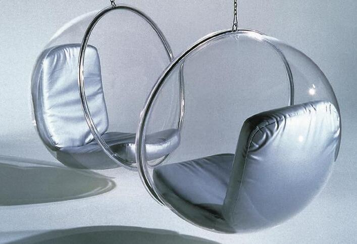 The chair Bubble designed by Eero Aarnio in 1966.