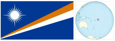 Marshall Islands Flag and Map