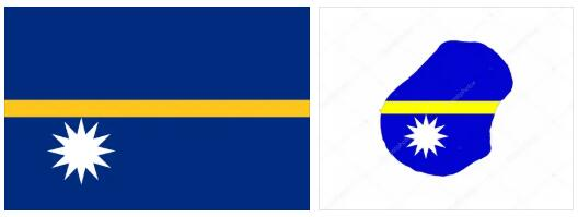 Nauru Flag and Map