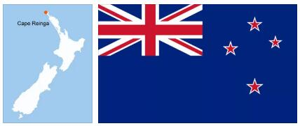 New Zealand Flag and Map