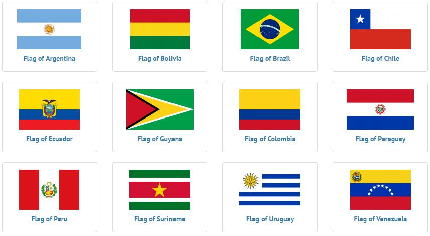 all south American countries