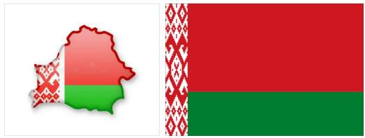 Belarus Flag and Map 2