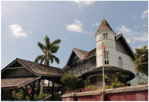 The Aung Sans house in Yangon