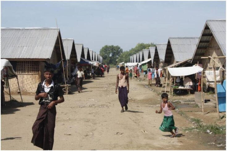 Camp opened in 2012 for displaced Rohingya near Sittwe