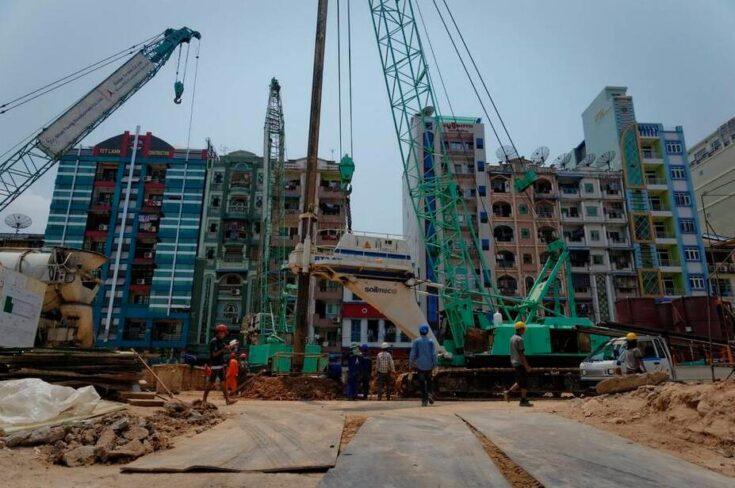 Construction site in Yangon Myanmar